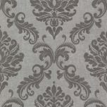 'Grey Damask' Textured Wall Covering