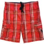 U.S. Polo Assn. Men's Plaid Cargo Swimsuit