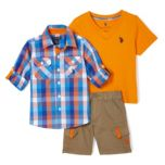 U.S. Polo Assn. Boys' T-Shirt, Button-Up and Shorts Set