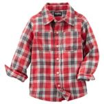 OshKosh® Button-Front Plaid Shirt