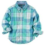 Carter's® Plaid Button-Front Shirt