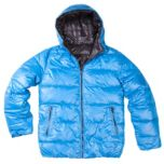 Point Zero® Fine Rip Stop Quilted Reversible Bomber Jacket with Hood