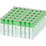 Eco Alkalines™ Eco Responsible Alkaline Batteries Type AAA Bulk 48-Pack