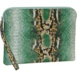 BUXTON® Python Snake Print Mini 10 inch Tablet/e-reader Wristlet Case - Green