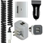 Armor All™ 2.4 amp 2 port Car and Home Charger with 3ft Micro USB Cable