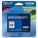 brother® Black on Transparent Clear Ribbon - 9mm