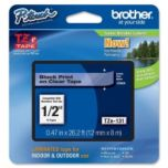 brother® Black on Clear Laminated Ribbon - 12mm