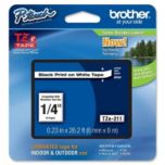 brother(MD) - Ruban noir sur blanc - 6 mm (23 po)
