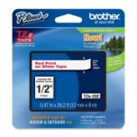 brother® Red on White Laminated Ribbon - 12mm