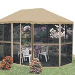ADLONCO HOLDINGS 13 x 9' Oblong-shaped Screened Gazebo