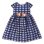 MARMELLATA™ Girl's Windowpane Check Lace Dress