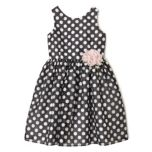 MARMELLATA™ Girl's Black And White Polka Dot Dress