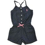 U.S. Polo Assn. Polka Dot Denim Romper