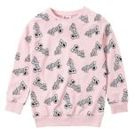 Barbie® Girl's All Over Print Logo Top