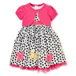 Girls Polka Dot Dress & Pink Shrug