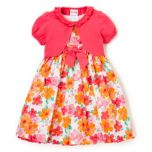 Girls Floral Dress with Shrug