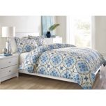 BASE WholeHome (TM/MC) 'Indigo Bloom' 3-Piece Duvet Cover Set