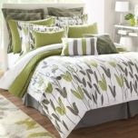 LIFESTYLE LINENS 'Annie' 12-Piece Duvet Cover Set