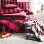 WholeHome CLASSIC(TM/MC) Plaid Flannel Duvet Cover Set